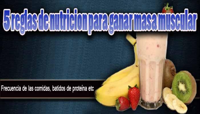 Reglas de nutrición para ganar masa muscular